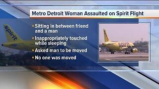 Metro Detroit woman assaulted on Spirit flight