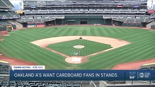 Oakland A's want cardboard fans in stands