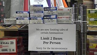 Local gun shops see an increased demand for ammo amid coronavirus concerns