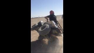 Insane quad bike crash caught on camera!