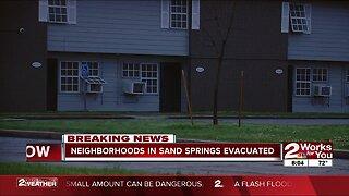 Neighborhoods, apartments evacuated in Sand Springs