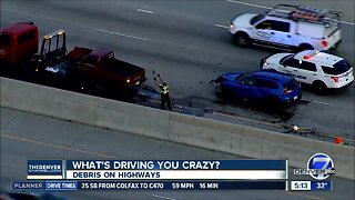 What's Driving You Crazy? Highway debris