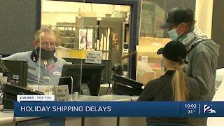 Shipping delays during holiday season