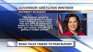 Gov. Whitmer, Republicans to 'table' road funding issues in budget deal