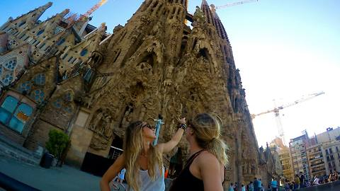 Sisters travel to Europe for the first time