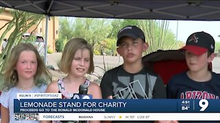 Using lemonade stands to raise money is a summer tradition. One group of Southern Arizona kids is putting its profits to good use.