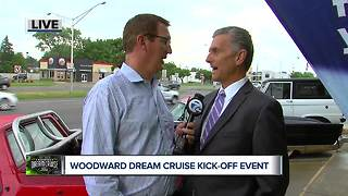 Kicking off the Woodward Dream Cruise