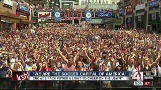 Thousands attend KC soccer watch party