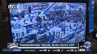 Thanksgiving travel rush kicks off