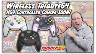 Retro-Bit Tribute64 2.4GHz Wireless Controller Release Dates & Limited Edition