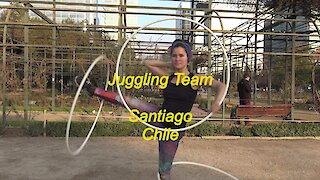 Juggling Team in Santiago, Chile