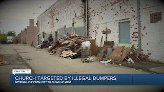 Detroit church targeted by illegal dumpers