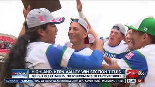 Highland, Kern Valley win section titles