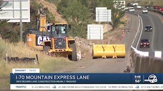 Crews making progress on I-70 WB Mountain Express Lane