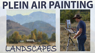 Plein Air Painting a Landscape