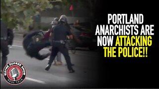 Portland Cops Attacked