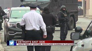 Barricaded gunman in custody after shots fired on Detroit's east side
