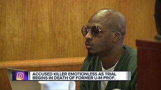 Trial begins for man accused of murdering University of Michigan professor
