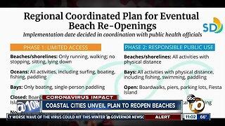 Coastal cities unveil plan to reopen beaches