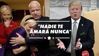 Meghan McCain protege a su padre de Trump