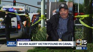 Silver Alert victim found in canal
