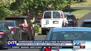 Homeowner shoots, kills man in Pasadena
