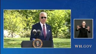 Biden Admits He Wore His Mask Outside For Theatrics