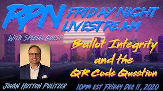 Jovan Hutton Pulitzer Answers The QR code Question Tonight on Fri. Night Livestream
