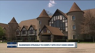 Businesses struggle to comply with stay home order