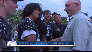 Hero football players meet couple they helped save