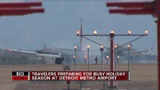 Travelers preparing for busy holiday season at Detroit Metro Airport