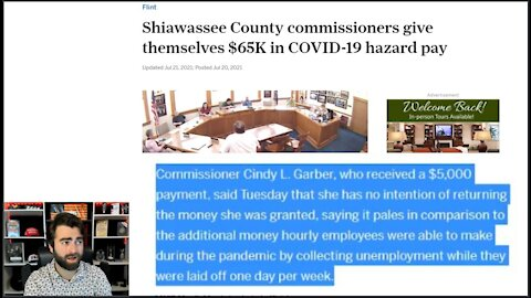 Shiawassee County Commissioners Paid THEMSELVES 65K In 'COVID-19 RELIEF'