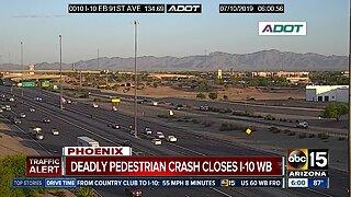 Deadly crash closes I-10 WB