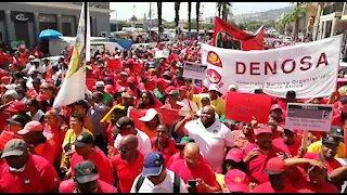 SOUTH AFRICA - Cape Town - Cosatu March (Video) (sMR)