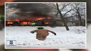 Fire destroys couple's home