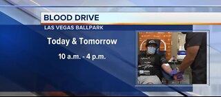 Blood drive at Las Vegas Ballpark on Monday until 4 p.m.