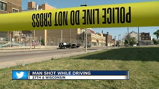 Man recovering after being shot while driving