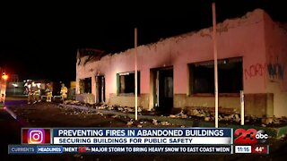Preventing fires in abandoned buildings