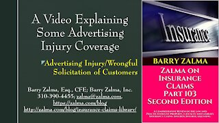 A Video Explaining Some Advertising Injury Coverage
