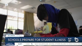 How will schools handle sick students during the pandemic?