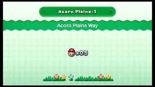New Super Mario U Deluxe - Acorn Plains-1 Acorn Plains Way (All Star Coins)