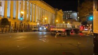 Barricades At The US Treasury
