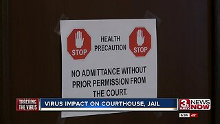 Virus impact on courthouse, jail