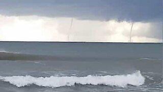 Stormen Dana melder sin ankomst i Palma de Mallorca med to skypumper