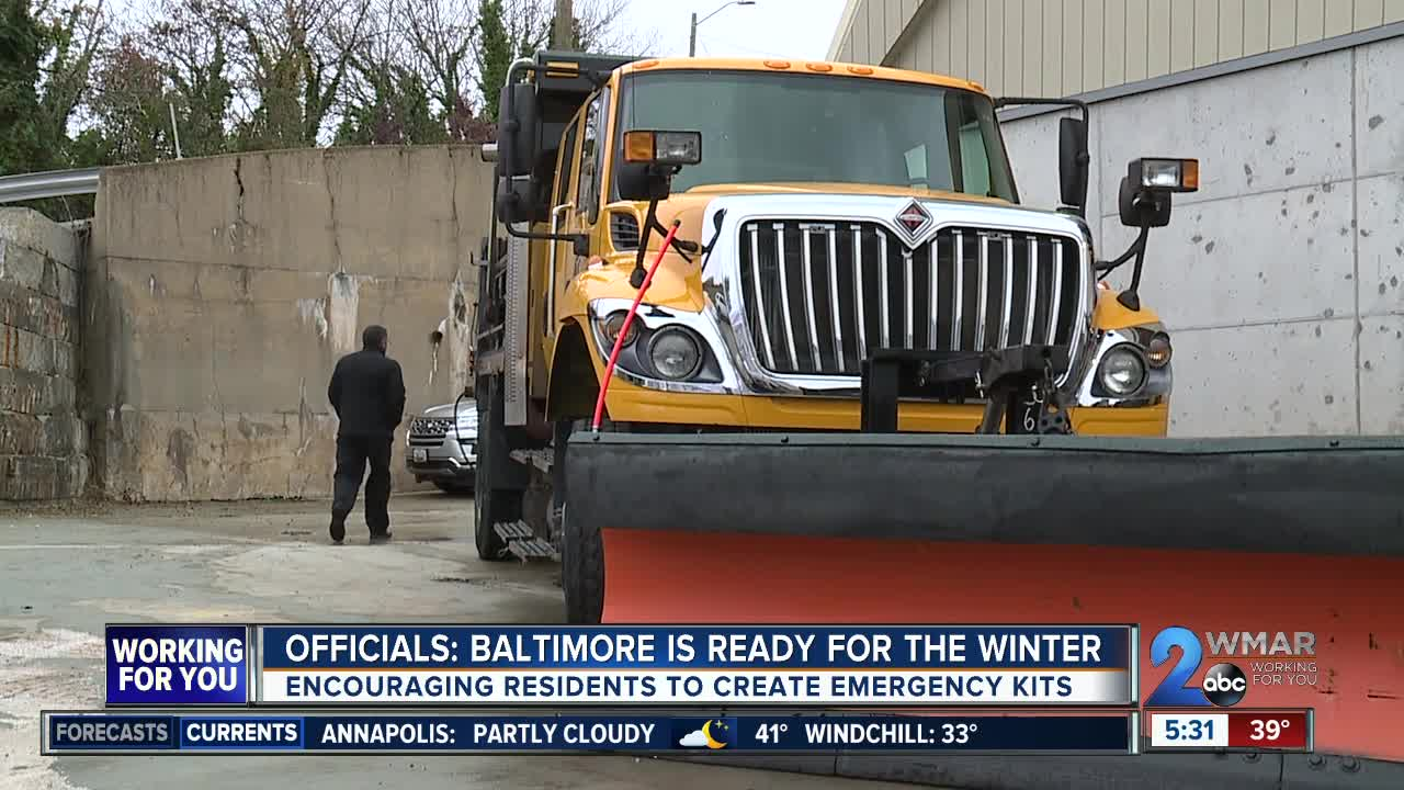 Officials: Baltimore is fully prepared for the winter