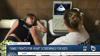 Family fights for heart screenings for kids