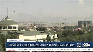President adresses nation after Afghanistan falls