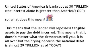 United States of America National Debt 2021