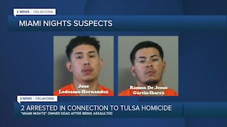 Two arrested in connection to Tulsa 'Miami Nights' murder