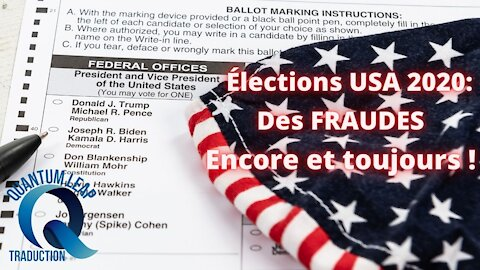 USA 2020 : Il s'agit d'une fraude électorale généralisée, pré-planifiée et pré-imprimée.